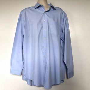 Brooks Brothers Mens Shirt 17.5 6/7 Blue Cotton